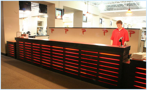 Reception Area for Premier Fitness Gyms in Metairie